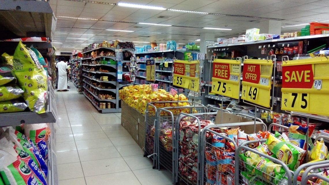 Supermercado com Preços nos produtos